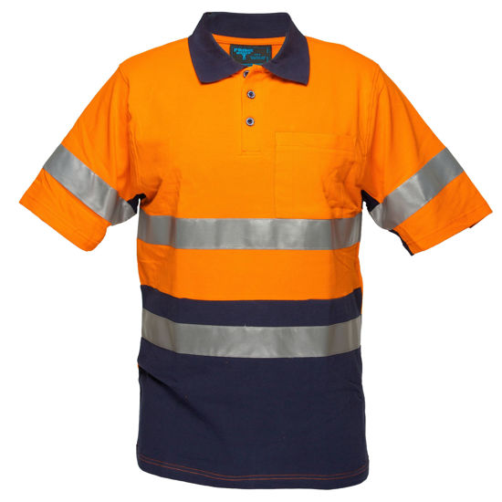 Picture of SHORT SLEEVE COTTON PIQUE POLO WITH TAPE