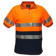 Picture of SHORT SLEEVE MICRO MESH POLO WITH TAPE