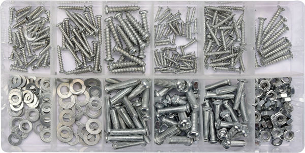 Picture of 347 PCS SELF-TAPPING SCREWS WOOD/METAL